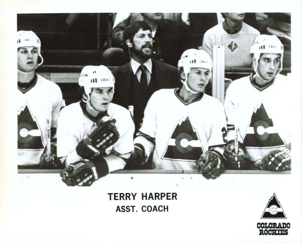 Coach Terry Harper Colorado Rockies 8x10 1979-1980