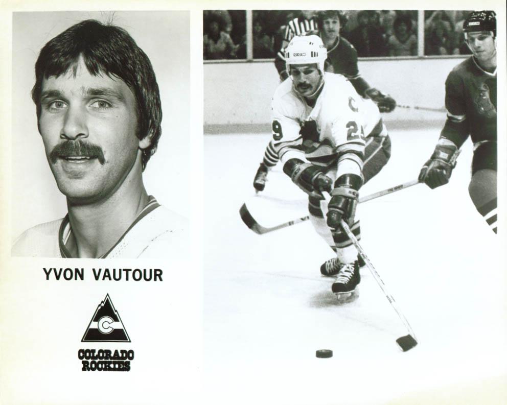 Yvon Vautour Colorado Rockies 8x10 1979-1980