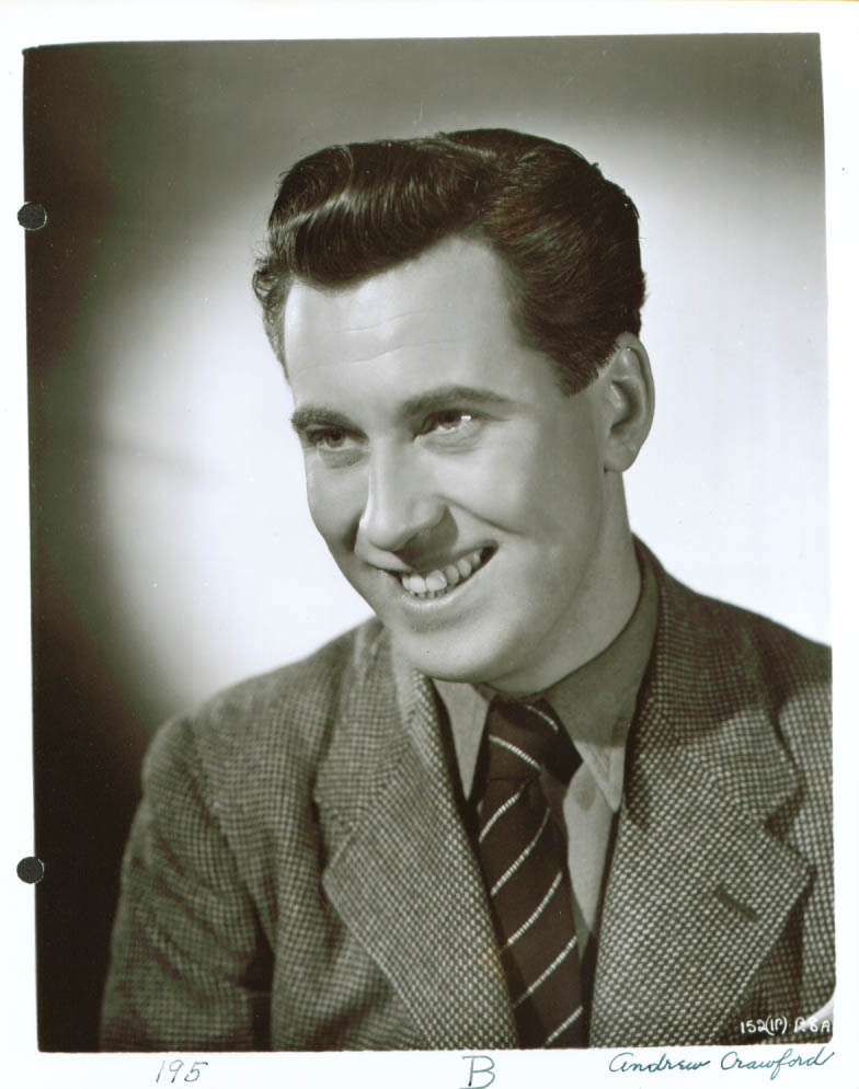 Actor Andrew Crawford 8x10 stuidio publicity still photo 1950s