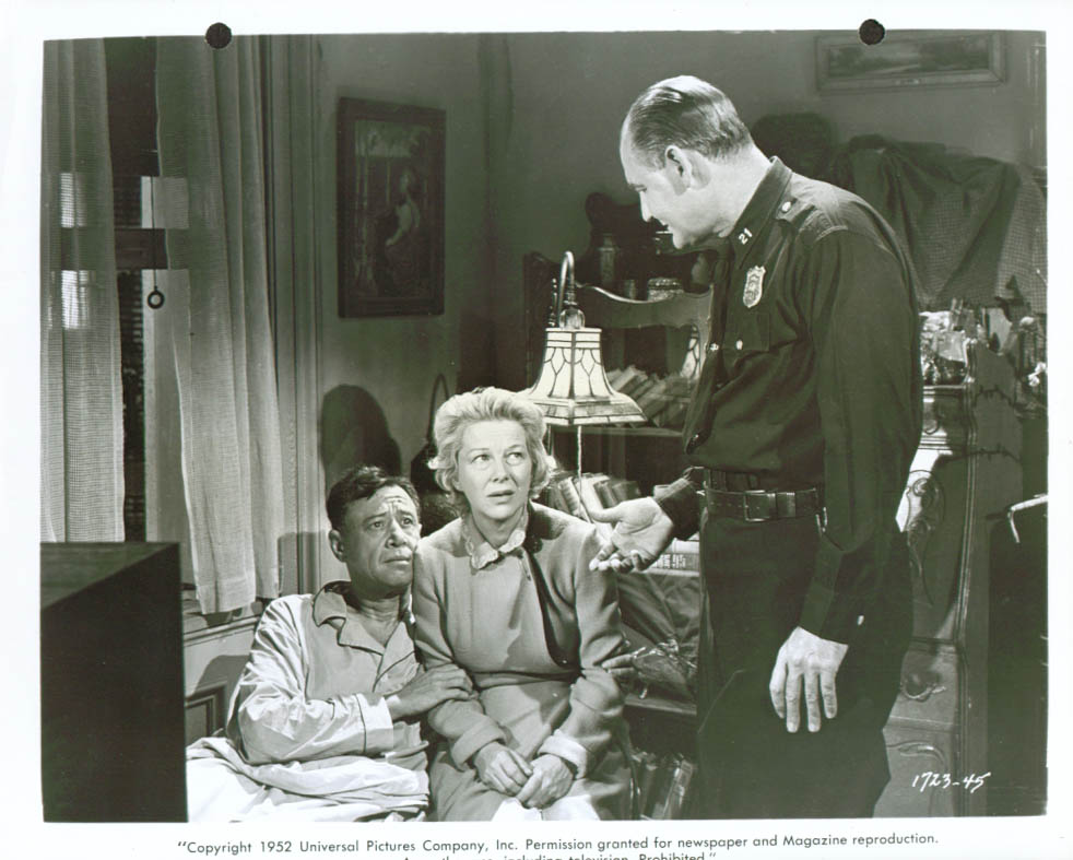 Anthony Ross Glenda Farrell Emile Meyer Girls in the Night 8x10 1952 #45