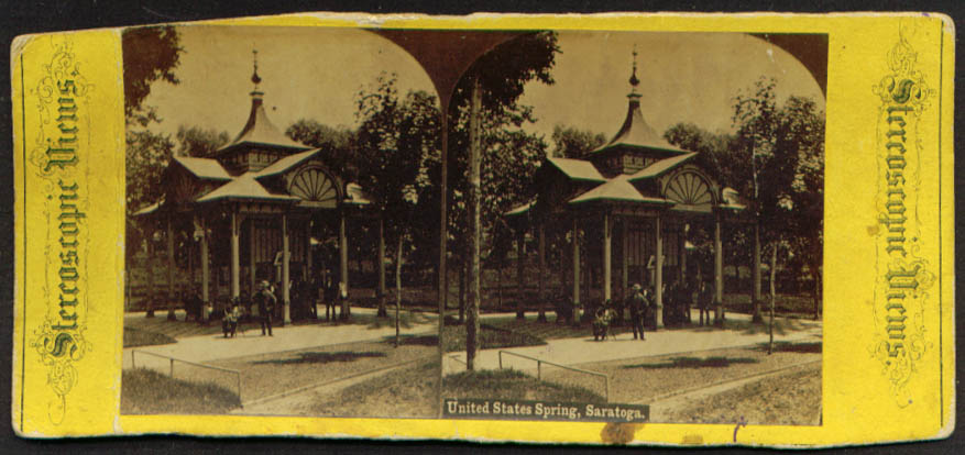 United States Spring Saratoga NY stereoview 1860s