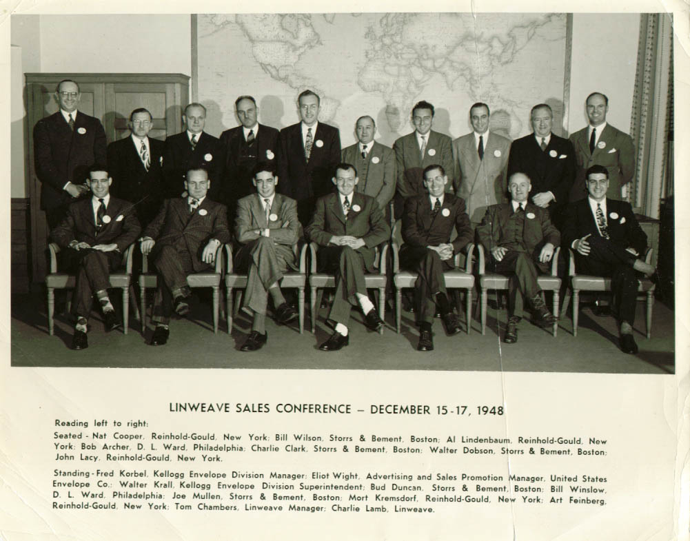 Linweave Paper Sales Conference attendees 8x10 1948