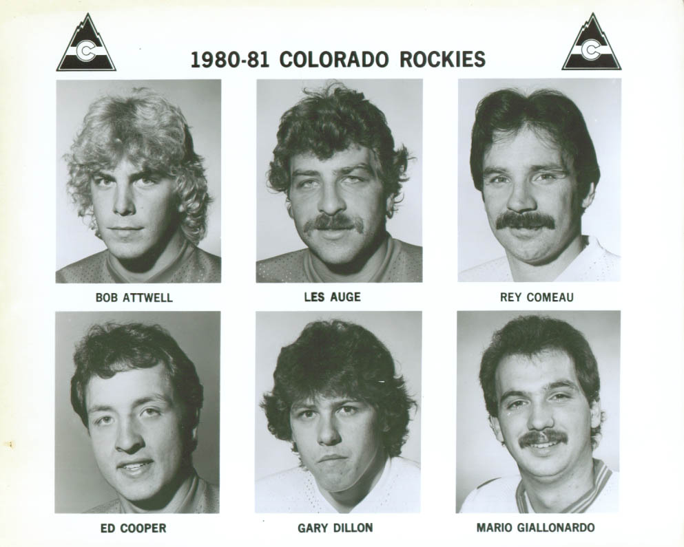 Attwell Dillon Auge + 3 Colorado Rockies photo 1980-81