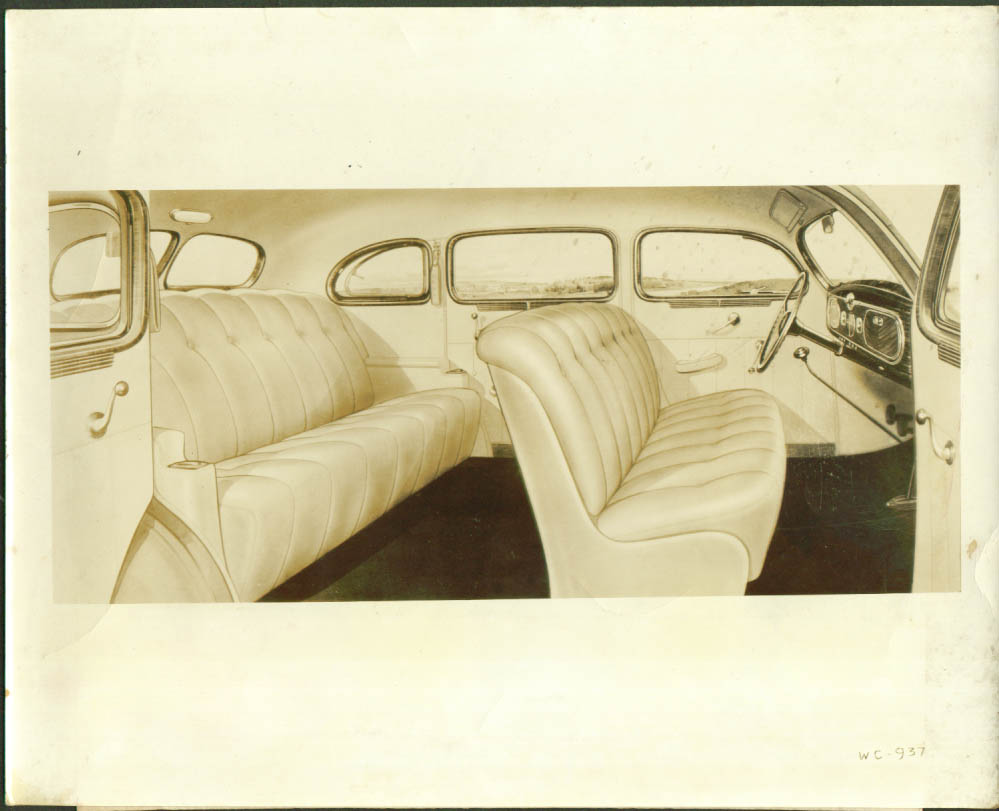 Interior 1937 Chrysler Royal 4-door sedan 8x10 photo