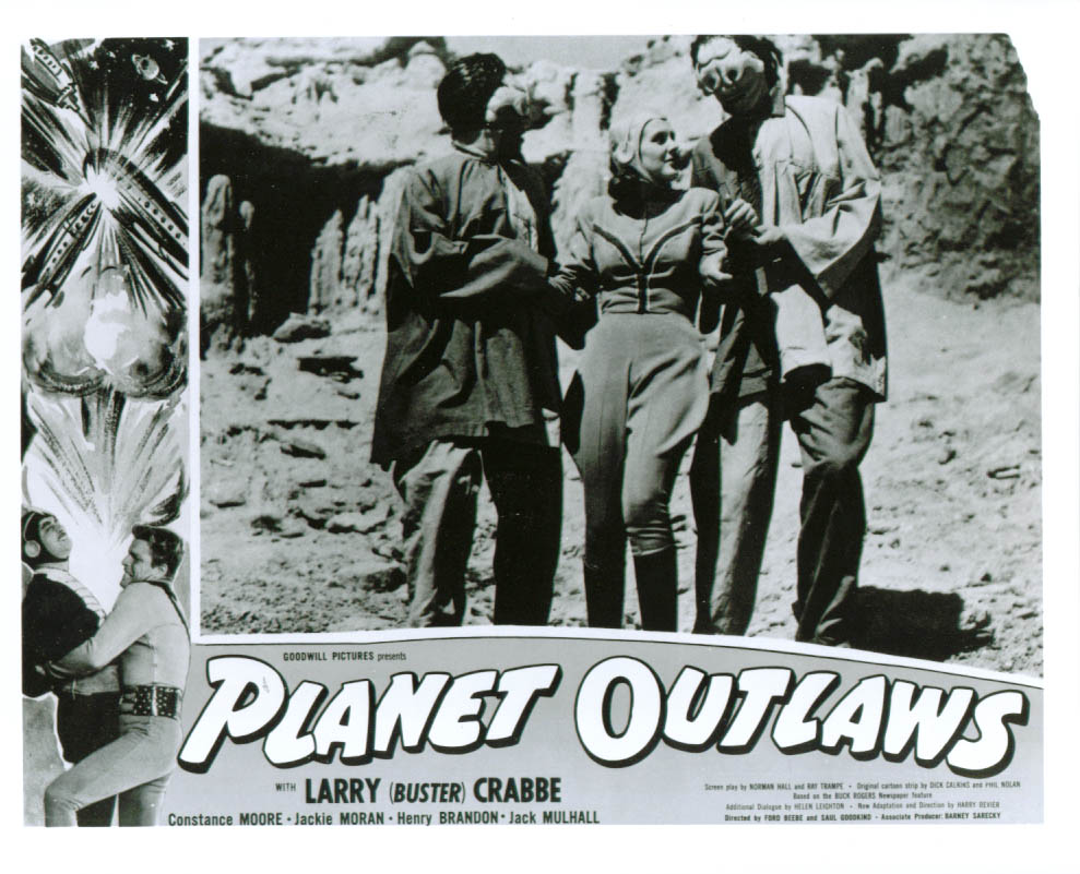 Image for Buster Crabbe Planet Outlaws lobby card 8x10 1953