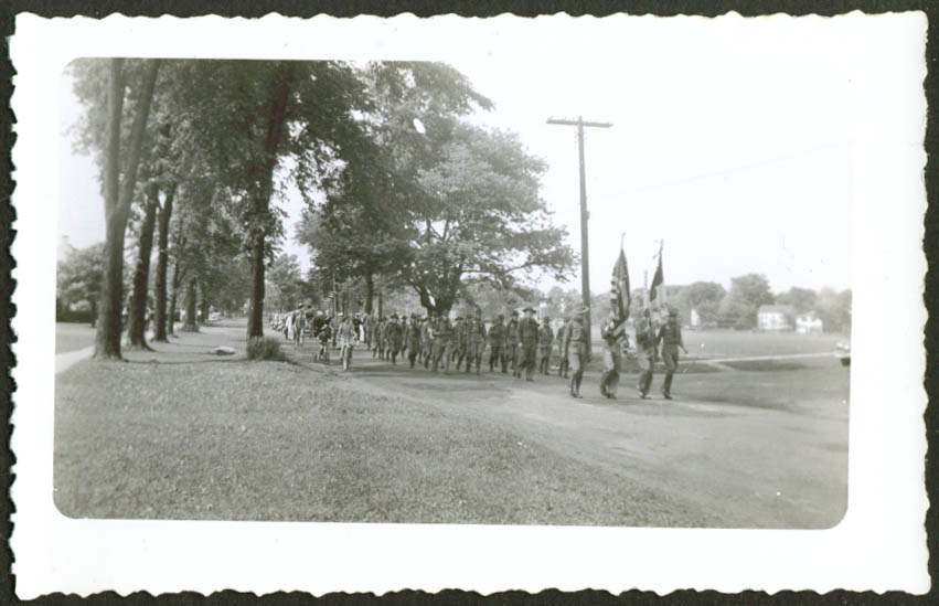 Boy Scout Troop Memorial Day Parade Connecticut 1943