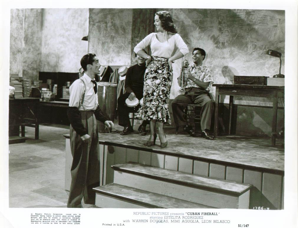 Estelita Rodriguez in Cuban Fireball 8x10 1951