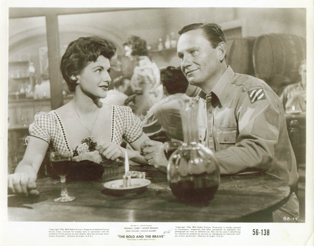Nicole Maurey Wendell Corey The Bold & the Brave 8x10