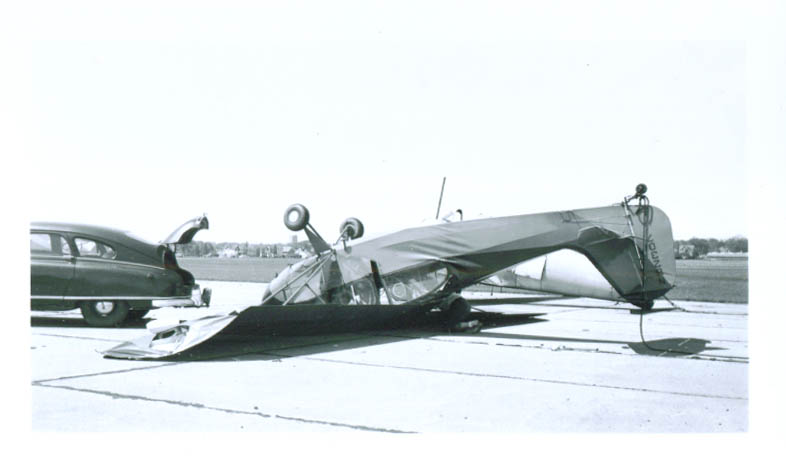 1940s Piper PA-34-20T flipped over N82307 airplane photo
