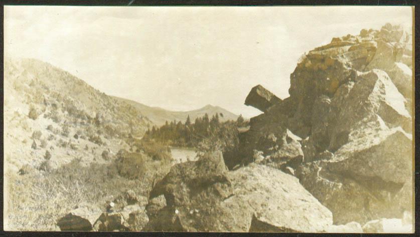 View up Bear River near Grace Idaho photo 1913 ID