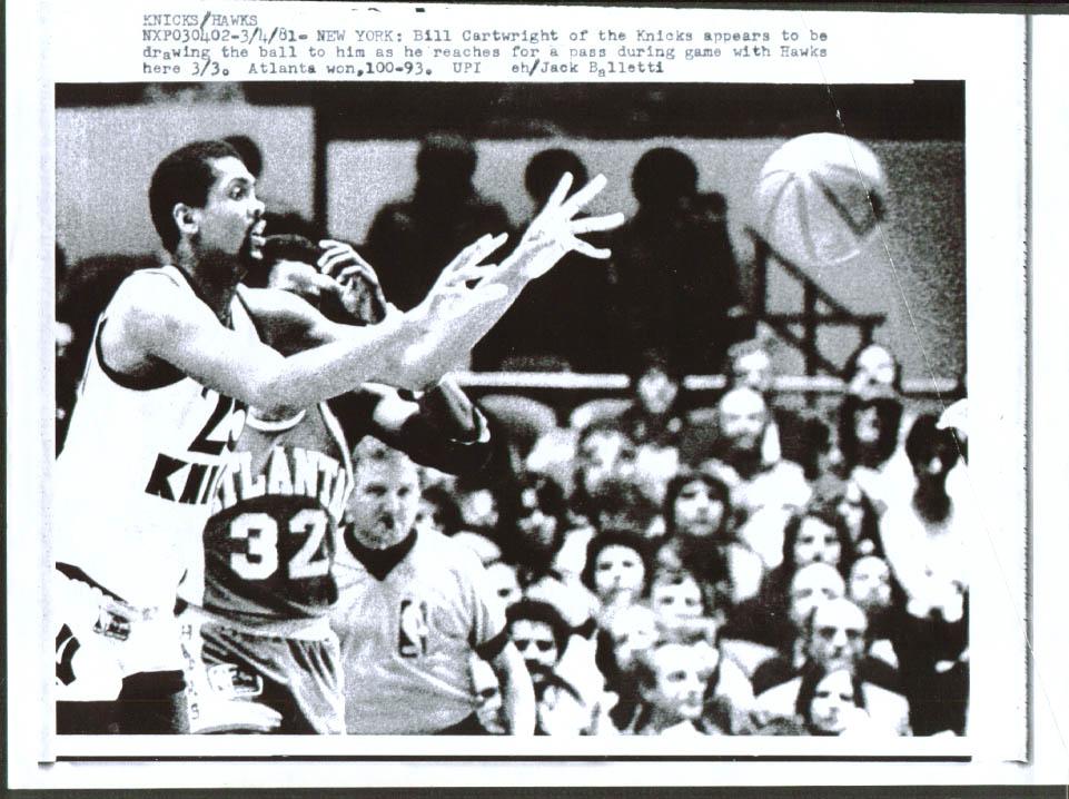 Knicks Bill Cartwright vs Hawks laserphoto 1981