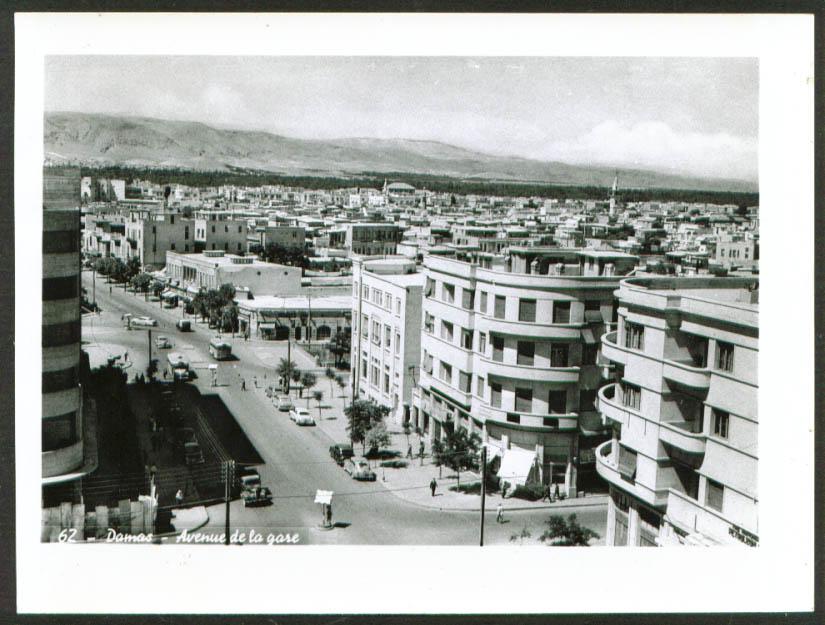 View up Avenue Abourumane Damascus Syria photo 1950s