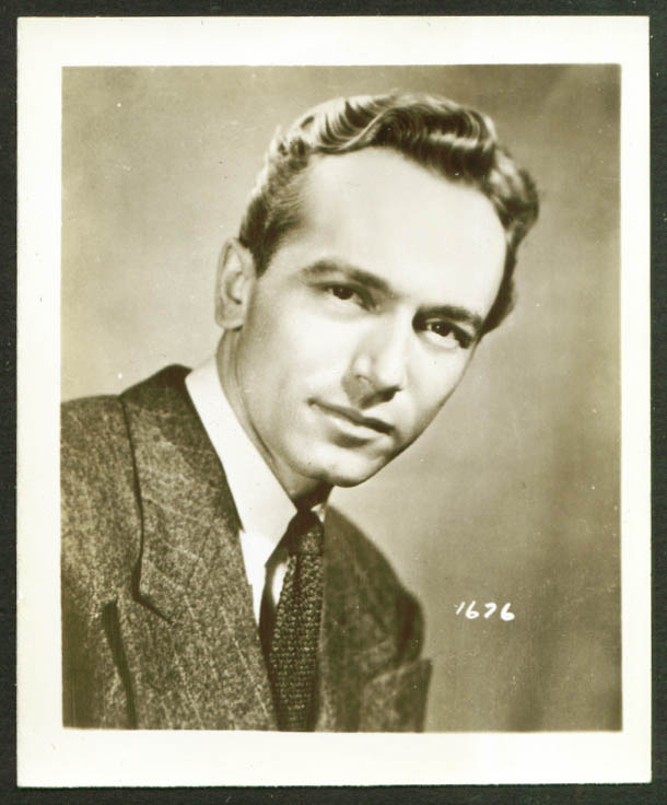 Actor Johnny Johnston miniature publicity photo 1940s