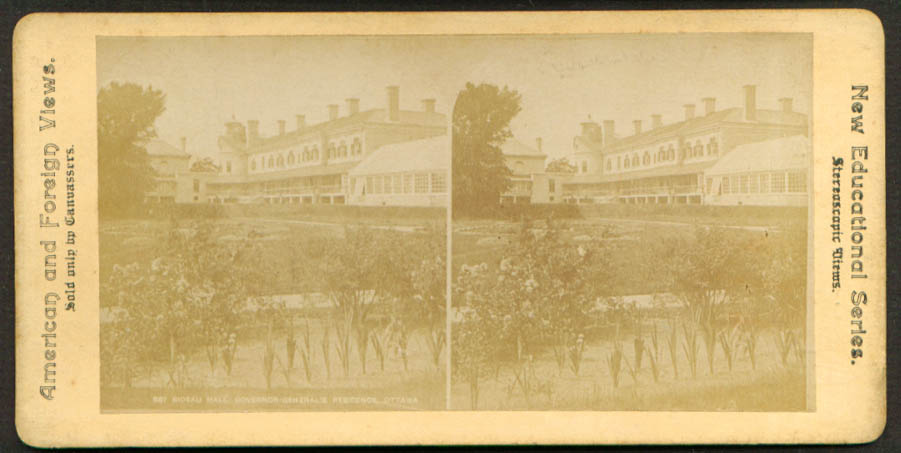 Governor's Rideau Hall Ottawa ON stereoview 1900s