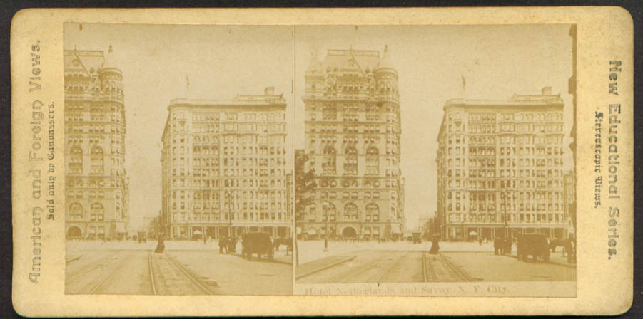 Hotel Netherlands & Savoy New York City stereoview 1900