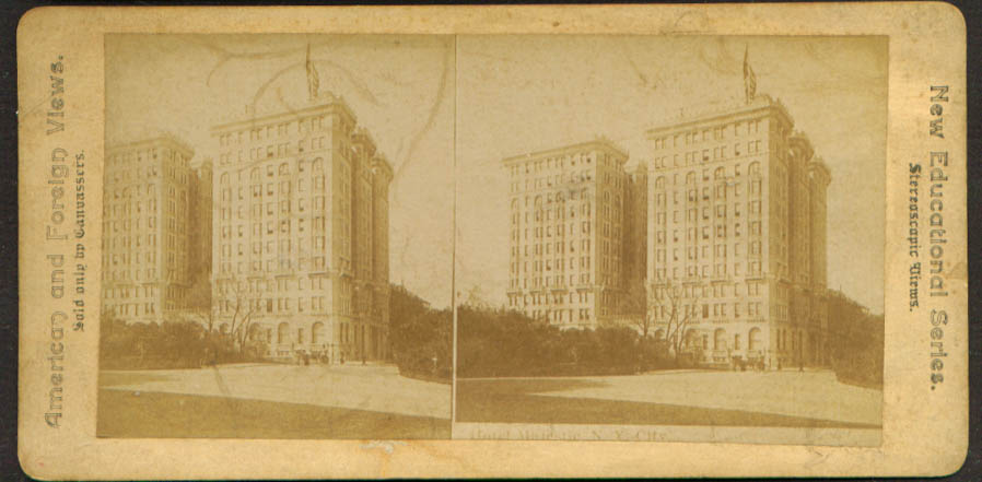 Hotel Majestic New York City NY stereoview 1900 +/-