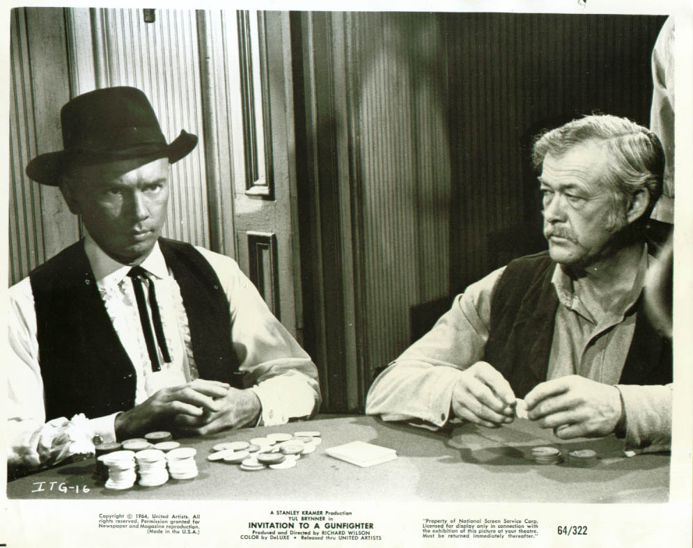 Yul brynner invitation to a gunfighter 8x10 1964 stopboris Image collections