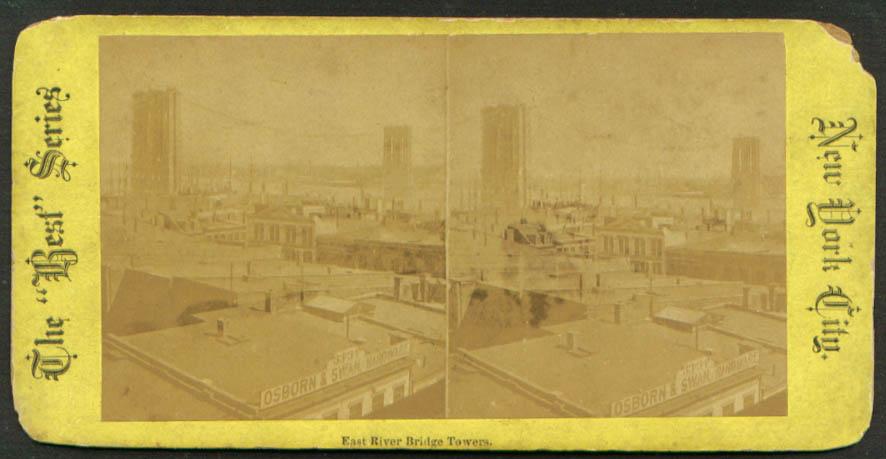 Osborn & Swan Hardware E River Bridge NY stereoview