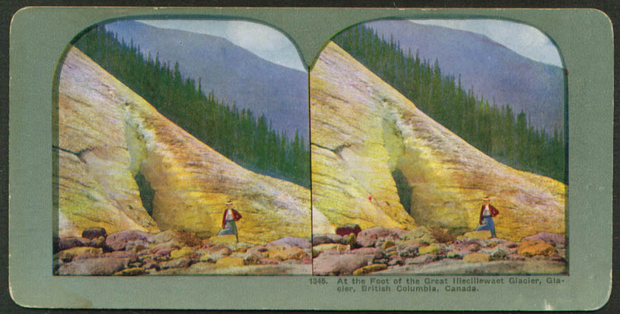 Foot Great Illecillewaet Glacier BC stereoview 1900s