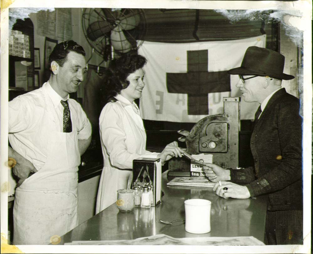 Lunch Counter Greater Red Cross War Fund 8x10 1945