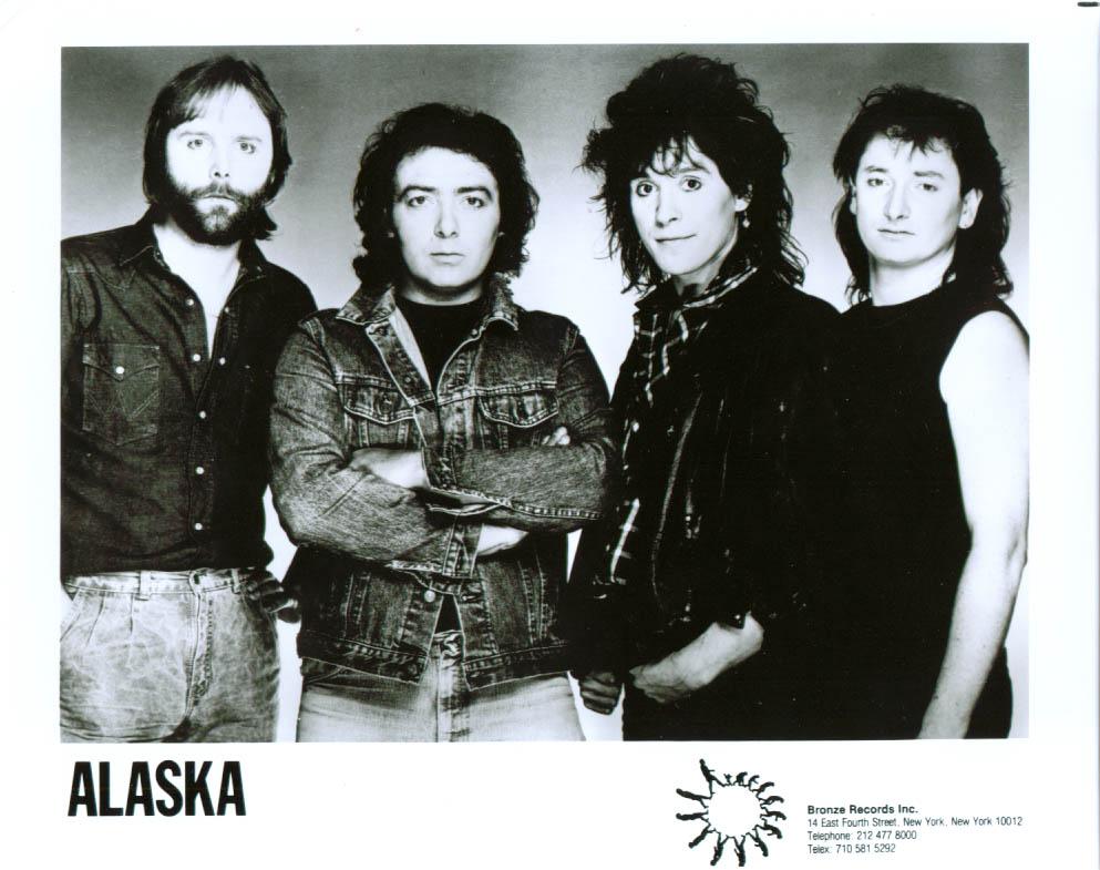 Rock group Alaska on Bronze Records publicity 8x10