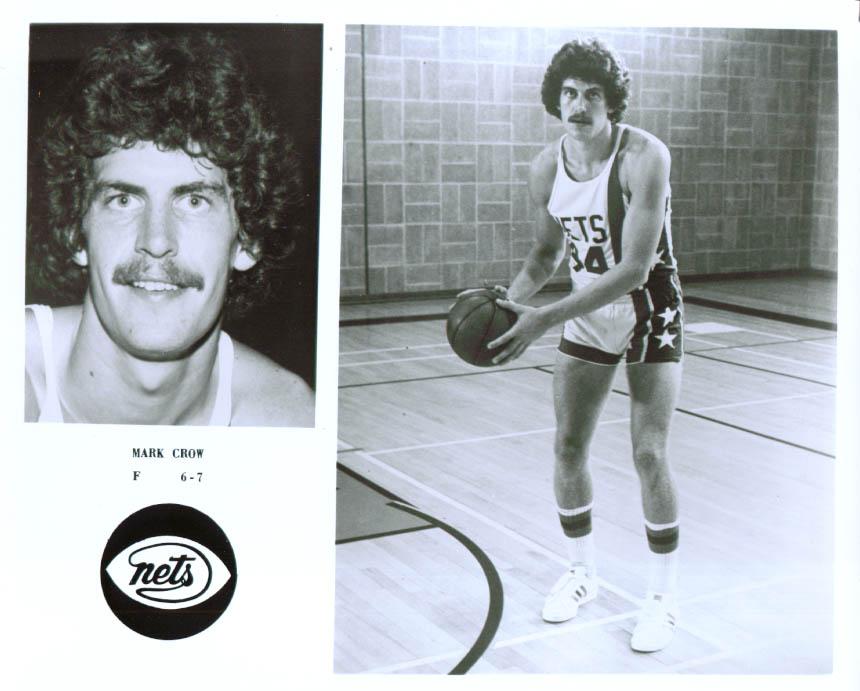 Forward Mark Crow New York Nets 8x10 1976 +/-