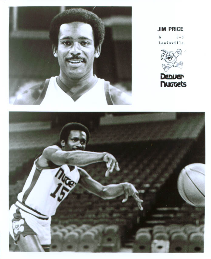 Guard Jim Price Denver Nuggets 8x10 1976-78