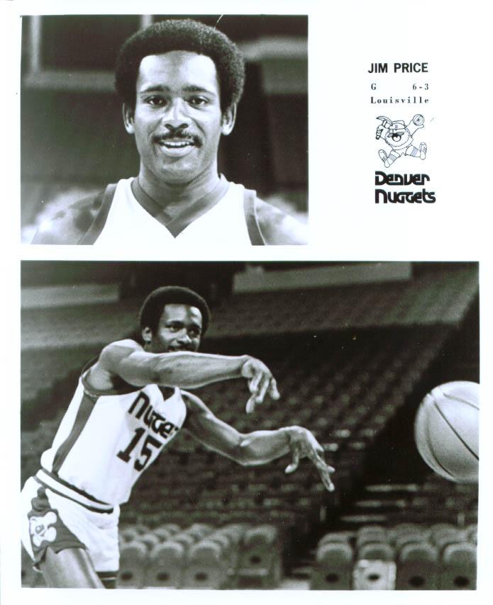 Guard Jim Price Denver Nuggets 8x10 1976-78