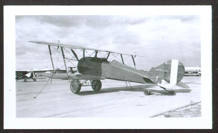 1918 Thomas-Morse S4B biplane N74W photo 1950s