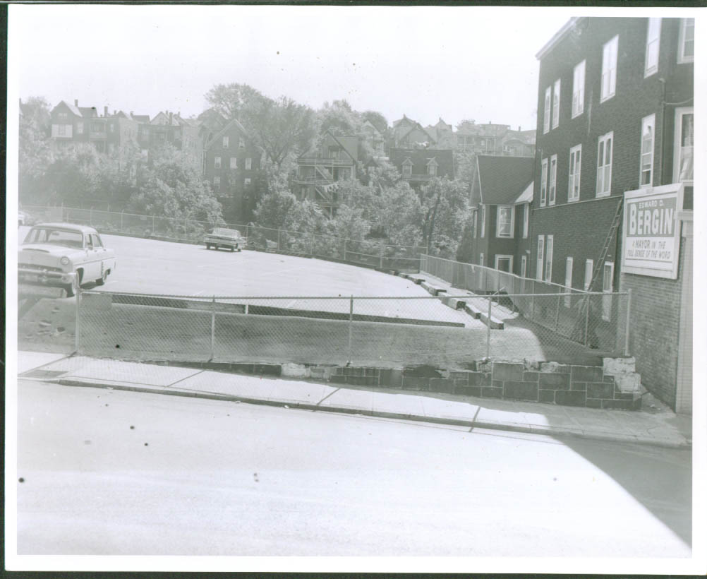 1959 Chevrolet Parking Lot N Main Waterbury CT 8x10 '61