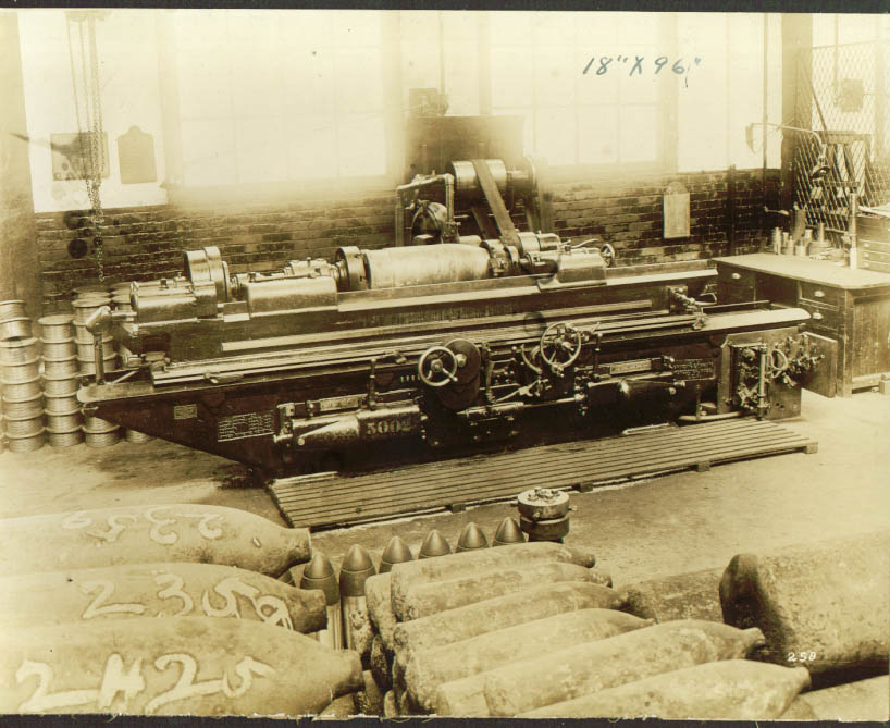"18x96"" Norton Grinding Machine factory photo 1900s"