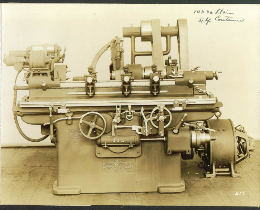 "10x36"" Self-contained Norton Grinding Machine photo 1900s"