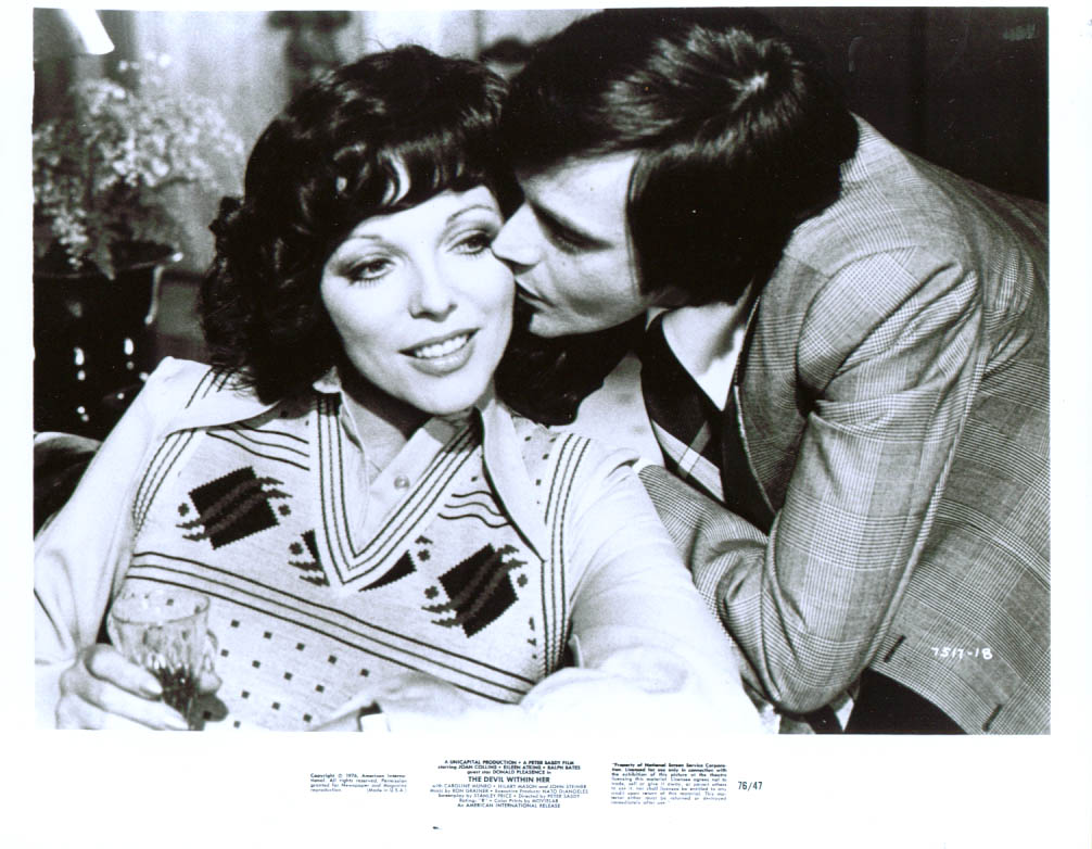 Joan Collins Ralph Bates Devil Within Her 8x10 1976 #1