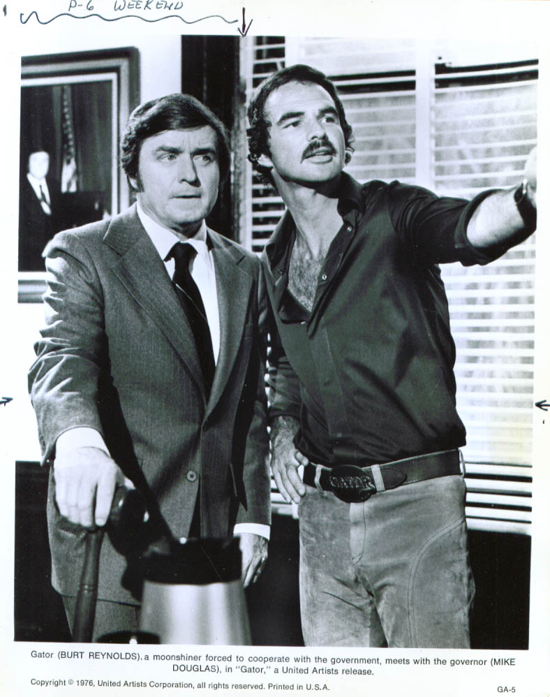 Mike Douglas Burt Reynolds in Gator 8x10 1976