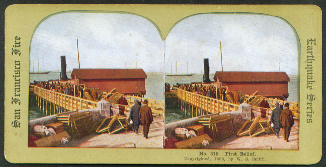 First relief SF Earthquake & Fire stereoview 1906