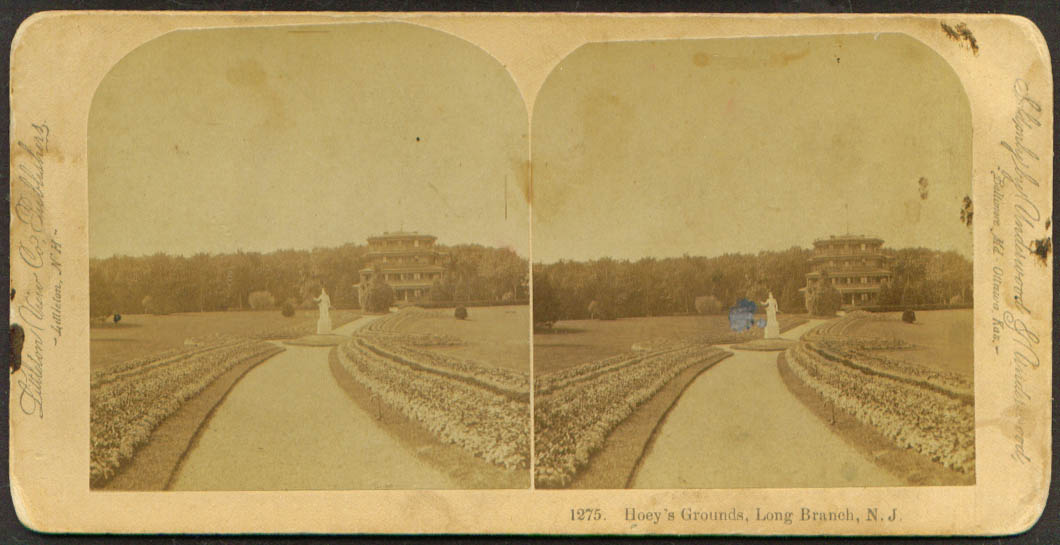 Hoey's Grounds Long Branch NJ stereoview 1890s