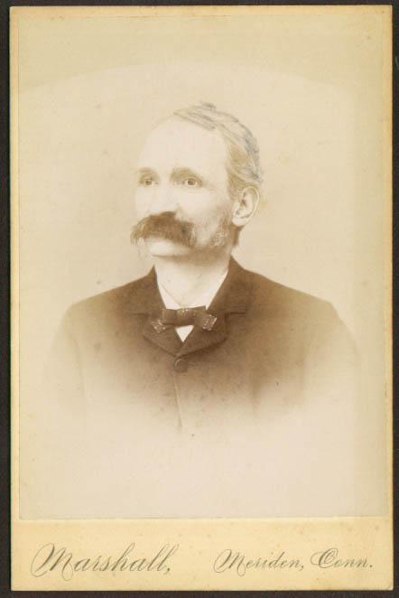 Thin man huge mustache cabinet Marshall Meriden CT