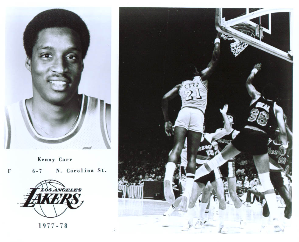Forward Kenny Carr Los Angeles Lakers 8x10 1977-1978