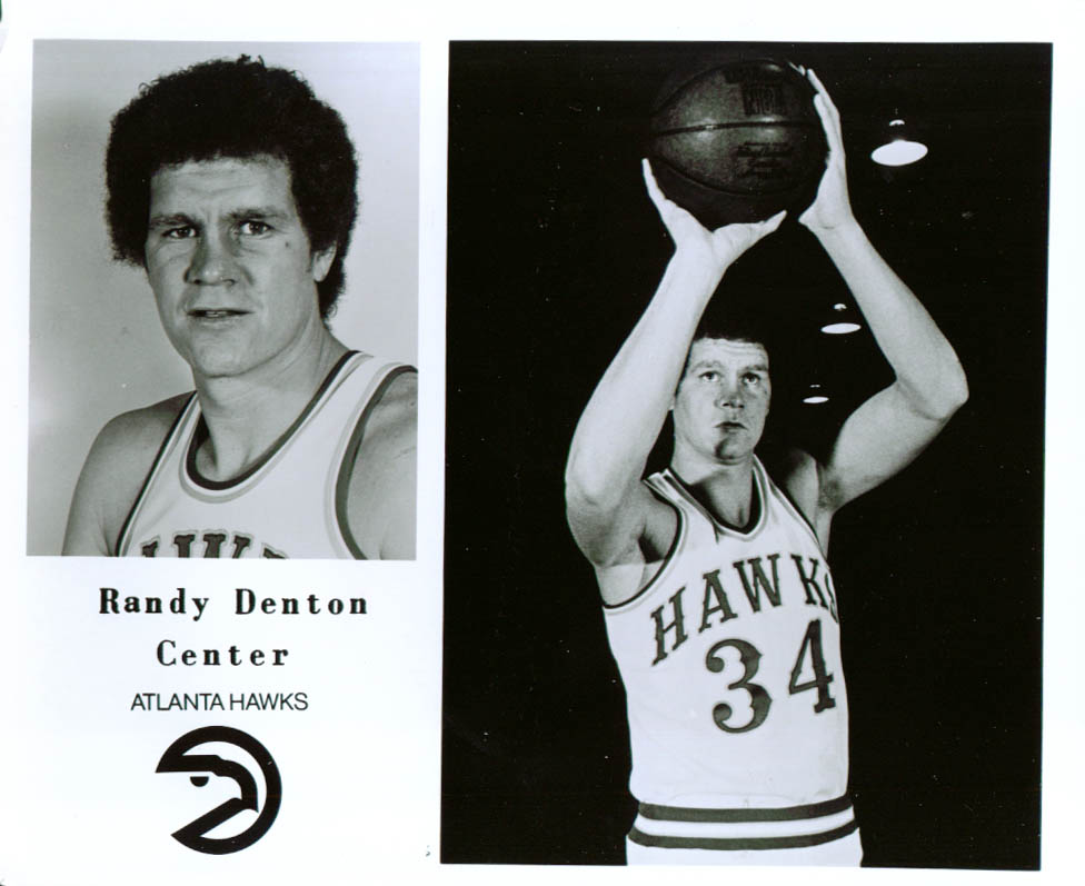 Center Randy Denton Atlanta Hawks 8x10