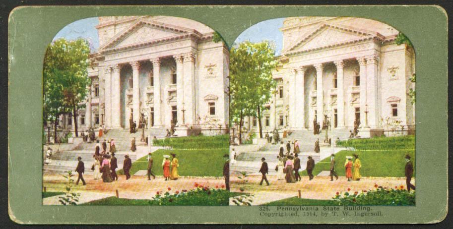 Pennsylvania Building St Louis World's Fair stereoview 1904