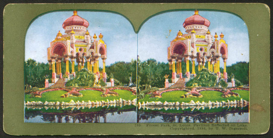 Forest Park Pavilion St Louis MO stereoview 1898