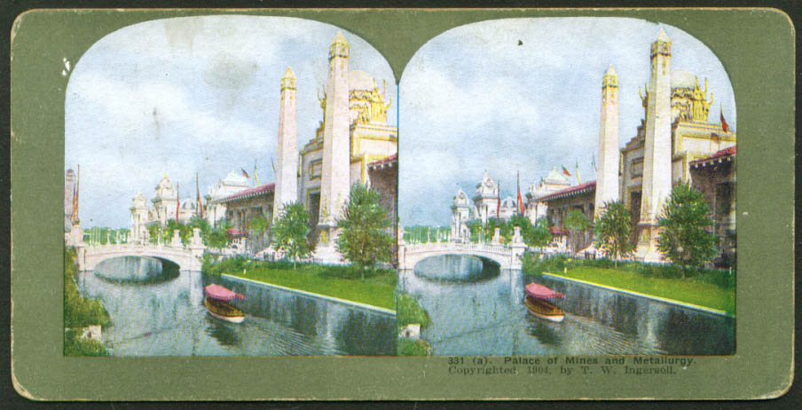 Palace of Mines St Louis World's Fair stereoview 1904