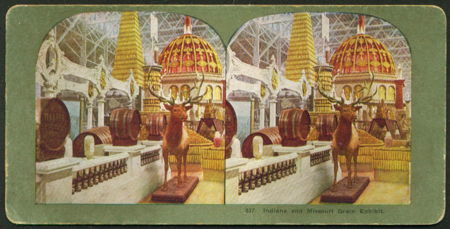 Grain Exhibit St Louis World's Fair stereoview 1904