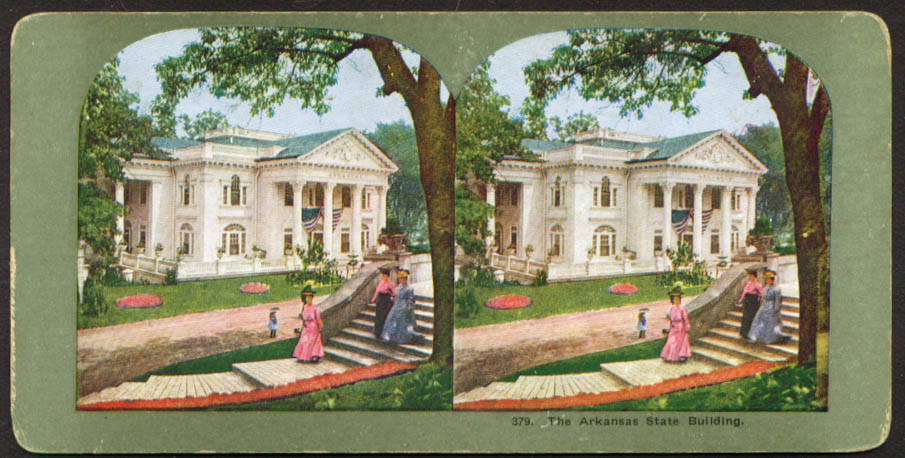 Image for Arkansas Building St Louis World's Fair stereoview 1904