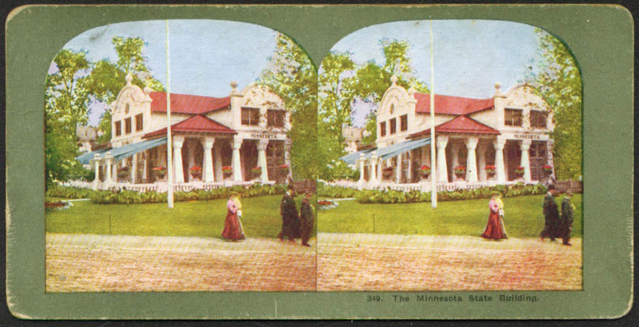 Minnesota Building St Louis World's Fair stereoview 1904
