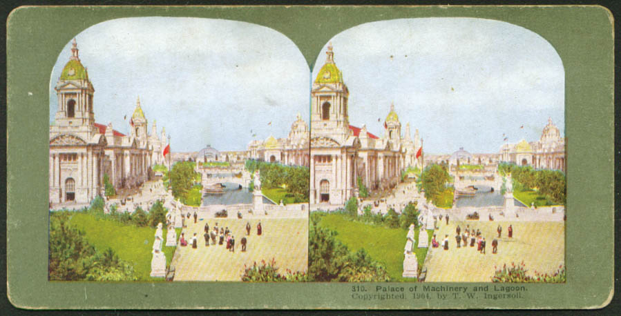 Machinery Palace St Louis World's Fair stereoview 1904