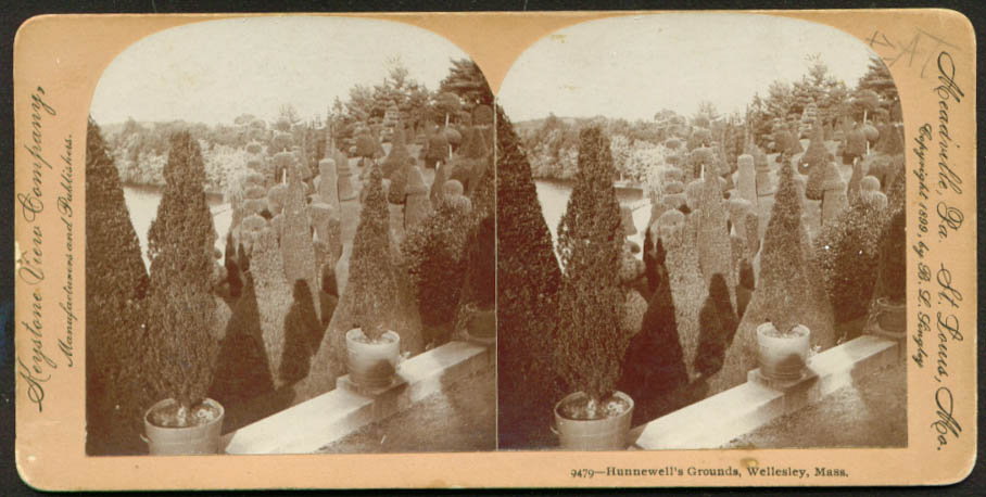 Hunnewell's Grounds Wellesley MA stereoview 1899