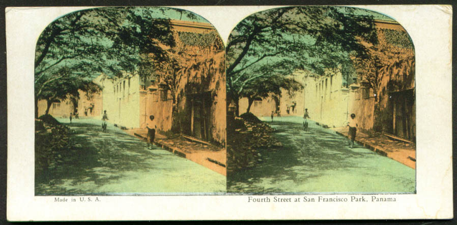 Fourth St San Francisco Park Panama stereoview 1900s