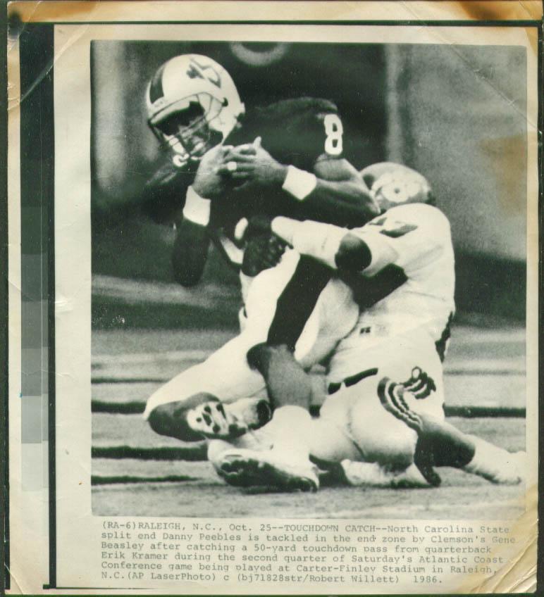 NC State SE Peebles scores v Clemson photo 1986