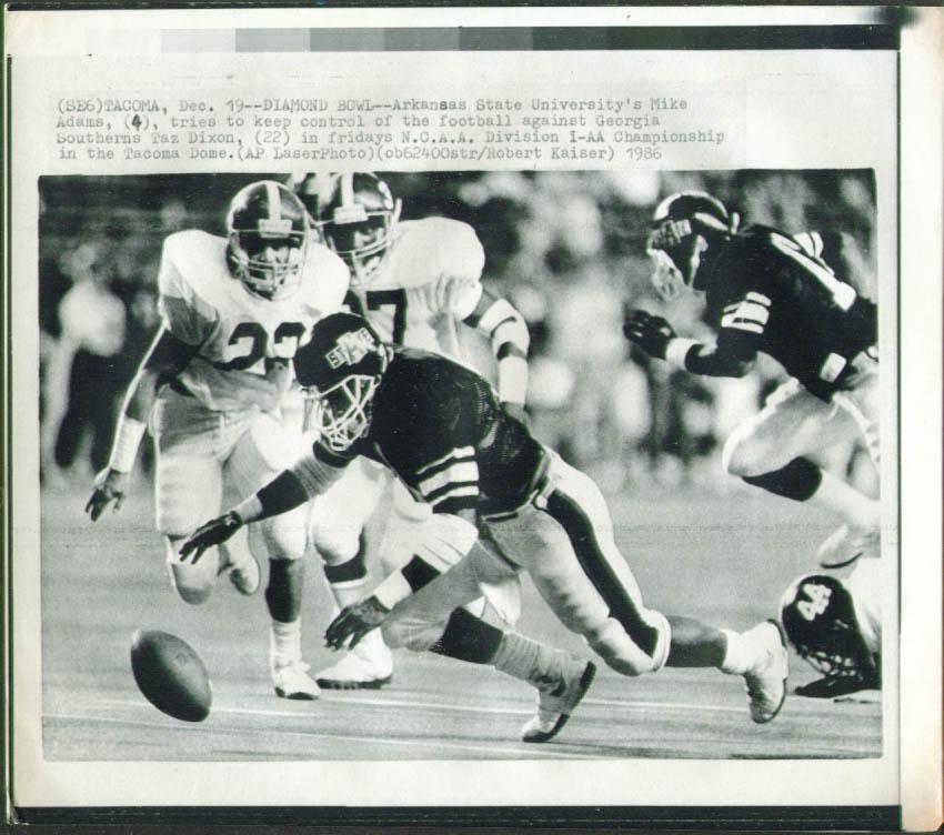AR State Adams v GA Southern Div-1-AA Championship 1986